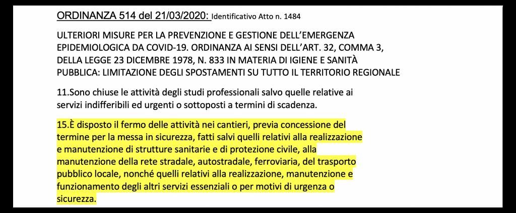 Riassunto cantieri Lombardia