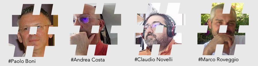 Paolo Boni, Claudio Novelli, Andrea Costa, Marco Roveggio